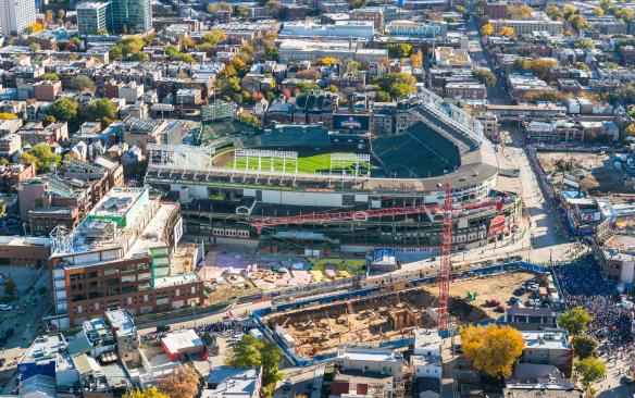 Wrigley Field Construction