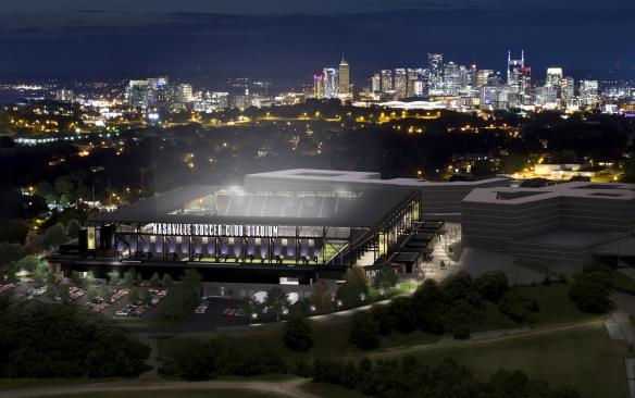 Nashville MLS South Night View