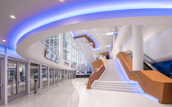Chase Center west entrance lobby